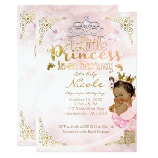 Tarjeta Princesa rosada Sparkle Tutu y fiesta de