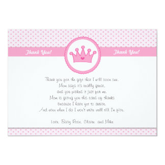 Tarjeta Princesa Thank You Card Note