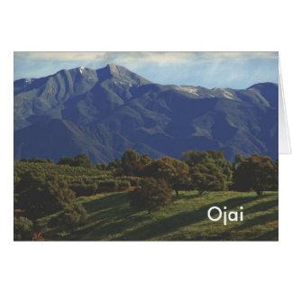 Tarjeta Principal pico, Ojai