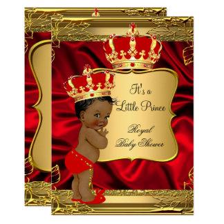 Tarjeta Príncipe afroamericano fiesta de bienvenida al