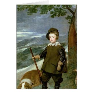 Tarjeta Príncipe Balthasar Carlos