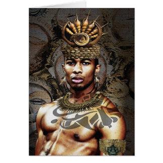 Tarjeta Príncipe tribal afroamericano