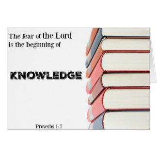 Tarjeta-Principio religioso de la graduación del Tarjeta De Felicitación