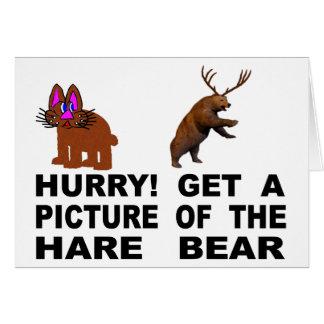 Tarjeta ¡Prisa!  Consiga una imagen del oso de las liebres
