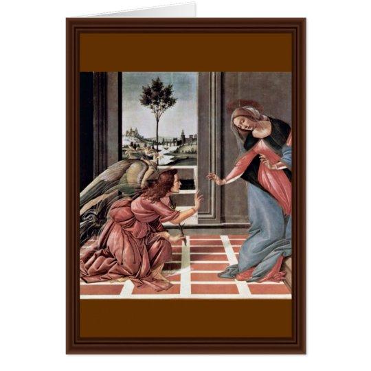 Tarjeta Proclamación de Botticelli Sandro (la mejor