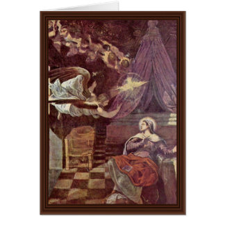 Tarjeta Proclamación de Tintoretto Jacopo (la mejor