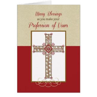 Tarjeta Profesión de la monja de las CRO (coordinadora)