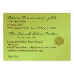 Tarjeta profesional del perfil edad verde de la ma tarjeta de visita