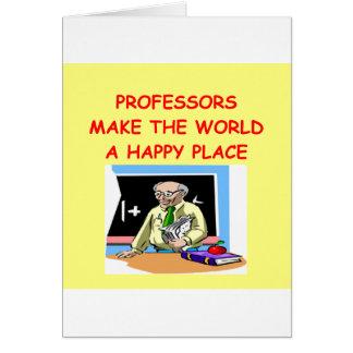 Tarjeta profesores