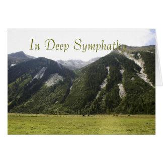 Tarjeta profunda de Symphathy de las montañas