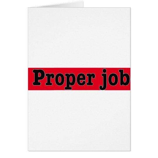 Tarjeta Properjob