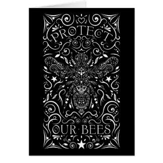 Tarjeta proteja nuestras abejas