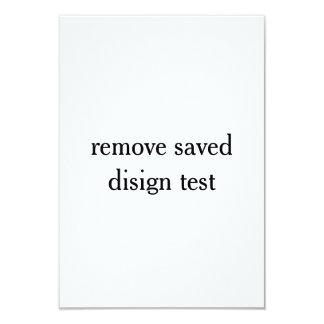 Tarjeta prueba ahorrada quitada del diseño