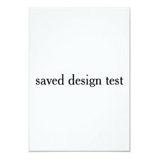 Tarjeta prueba del diseño