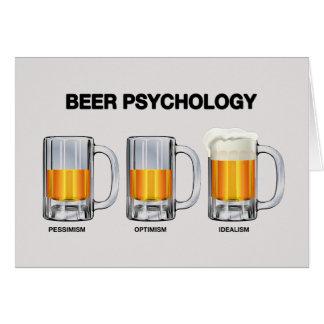 Tarjeta Psicología de la cerveza