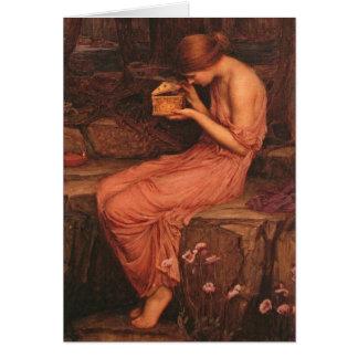 Tarjeta Psique y caja de oro John William Waterhouse