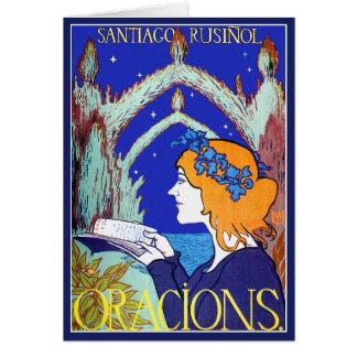 Tarjeta: Publicidad del vintage de Nouveau del art