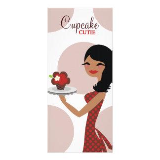 Tarjeta Publicitaria 311 Candie el rojo marrón étnico de Cutie de la