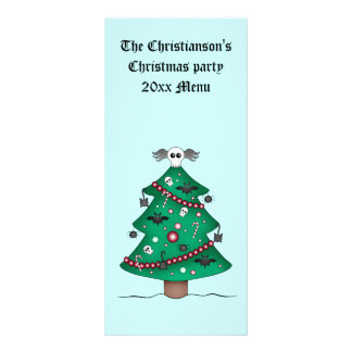 Tarjeta Publicitaria Árbol de navidad gótico lindo
