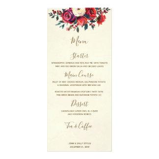 Tarjeta Publicitaria bayas florales del invierno del navidad que casan