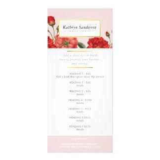 Tarjeta Publicitaria El PRECIO del PROMO MANTIENE la flor de los rosas
