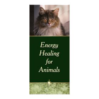 Tarjeta Publicitaria Energía que cura para los animales