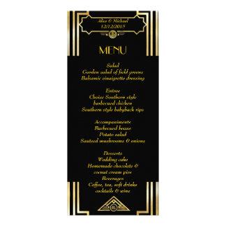 Tarjeta Publicitaria Estilo de Gatsby del art déco del menú, tema del
