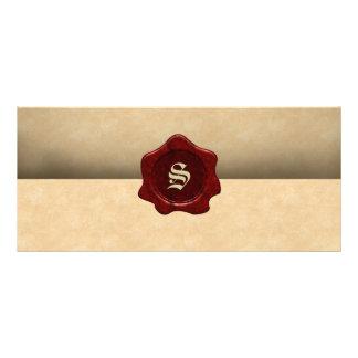 Tarjeta Publicitaria Falso gótico del vintage del sello y del pergamino