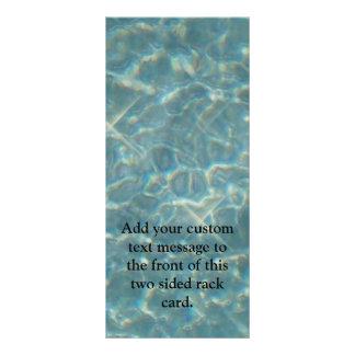 Tarjeta Publicitaria Fondo del agua azul