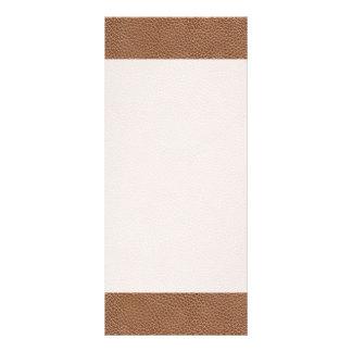 Tarjeta Publicitaria Imitación de cuero Brown natural