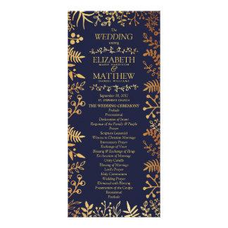 Tarjeta Publicitaria La colección floral elegante del boda de la marina