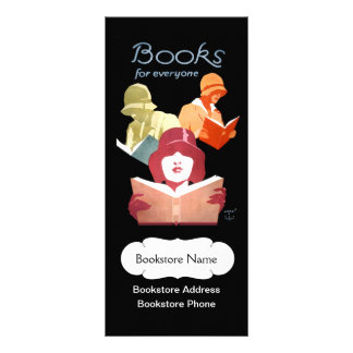 Tarjeta Publicitaria Librería o biblioteca del vintage personalizada