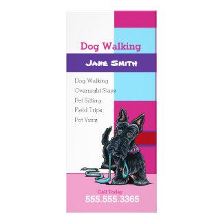 Tarjeta Publicitaria Márketing de negocio del mascota de la tela