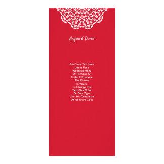 Tarjeta Publicitaria Modelo blanco rojo bonito del cordón personalizado