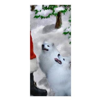Tarjeta Publicitaria Navidad americano del perro esquimal
