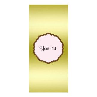 Tarjeta Publicitaria Oro atractivo personalizado