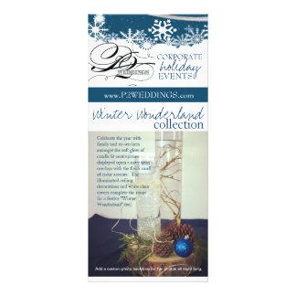 Tarjeta Publicitaria País de las maravillas del invierno de los bodas