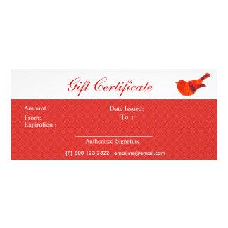 Tarjeta Publicitaria Pájaro rojo precioso de los animales pequeño