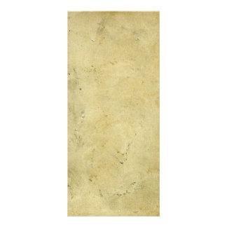 Tarjeta Publicitaria Papel envejecido vintage manchado rústico en