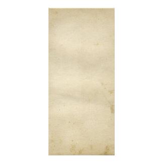 Tarjeta Publicitaria Papel manchado antigüedad magnífica 1800's