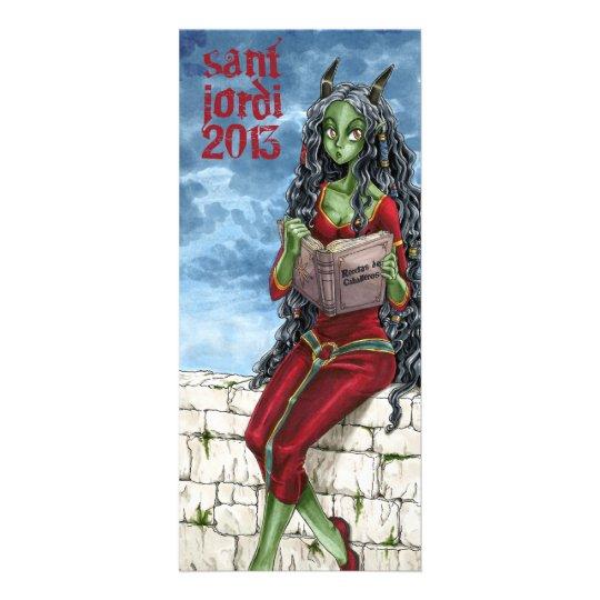 Tarjeta Publicitaria Punt de llibre Drac Sant Jordi 2013