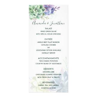 Tarjeta Publicitaria Succulents del cactus de la acuarela que casan el