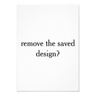 Tarjeta publique la prueba de un diseño ahorrado