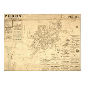 Tarjeta Pueblo de Perry, el condado de Wyoming, Nueva York