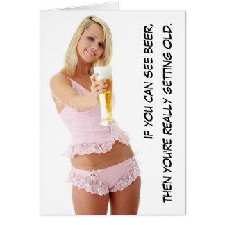 Tarjeta ¿Puede usted ver la cerveza?