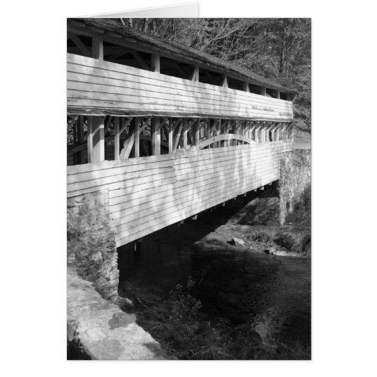 Tarjeta Puente cubierto Notecard del parque nacional de la