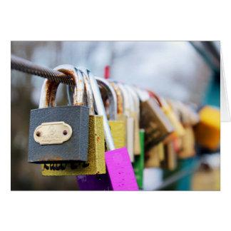 Tarjeta Puente de la cerradura del amor