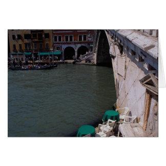Tarjeta Puente de Rialto en el Gran Canal
