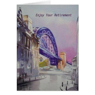 Tarjeta Puente de Tyne de decano Street Retirement Card