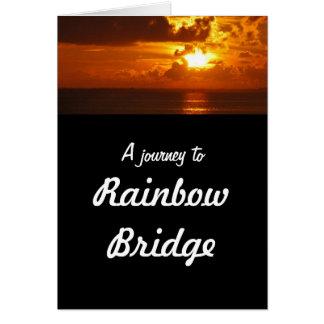 Tarjeta Puente del arco iris - condolencia del perro